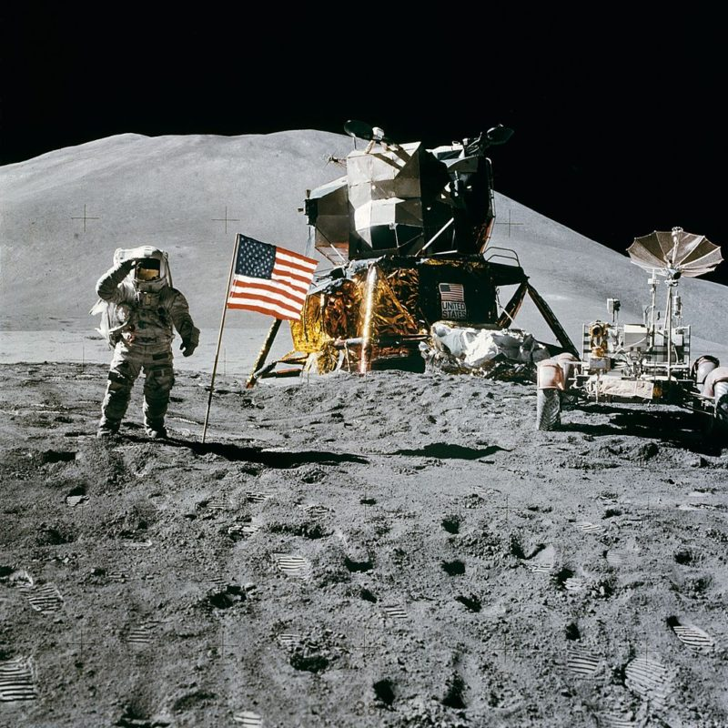 Apollo 15 mission on the moon