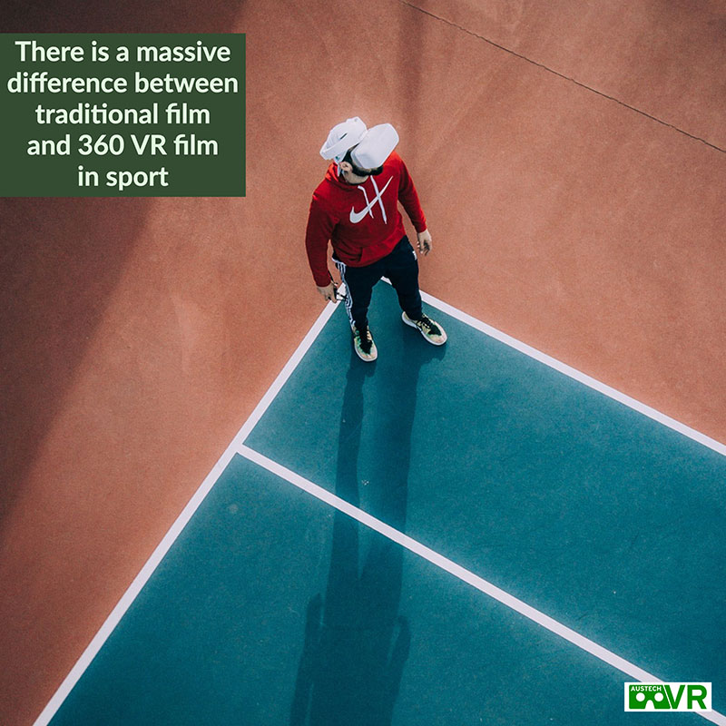 VR Video is different to regular film in sport